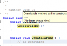 Netbeans overrideable method call in constructor