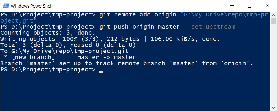 push to remote repository